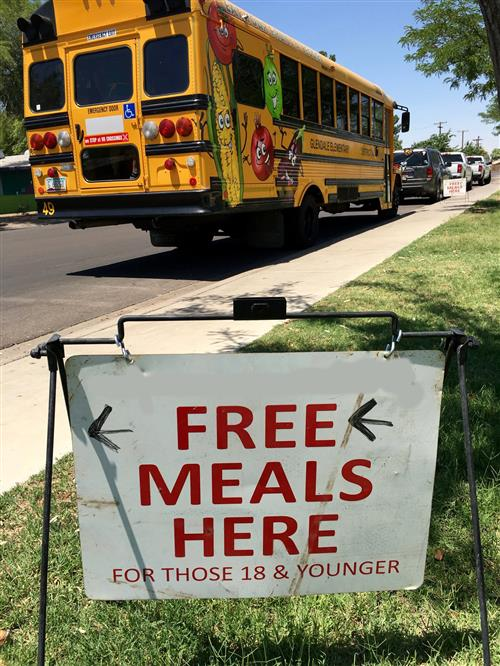 Free food sign