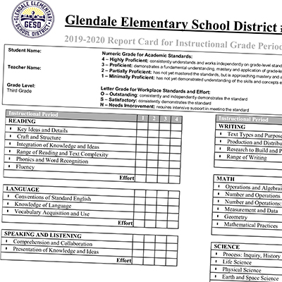Mensendick report card