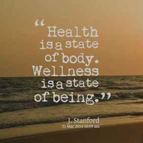 Health is a state of body.